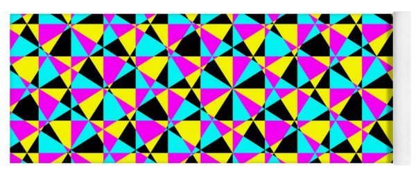 Crazy Psychedelic Art In Chaotic Visual Color And Shapes - Efg22 Yoga Mat