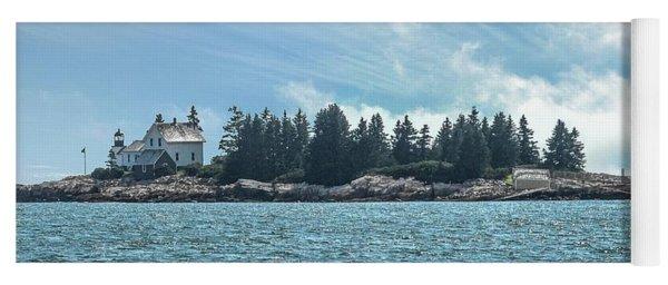 Egg Rock Lighthouse Acadia National Park Yoga Mat