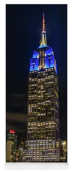Empire State Building Panorama At Night Yoga Mat