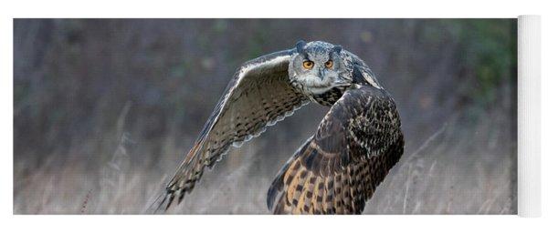 Eurasian Eagle Owl Flying Yoga Mat