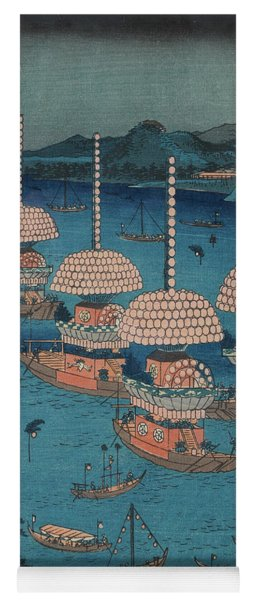 Festival Of Sanno, Owari Province, 19th Century Yoga Mat