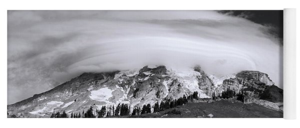 Yoga Mat featuring the photograph Lenticular Cloud Over Mt Rainier by Sharon Seaward