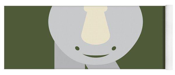 Letter R - Animal Alphabet - Rhino Monogram Yoga Mat