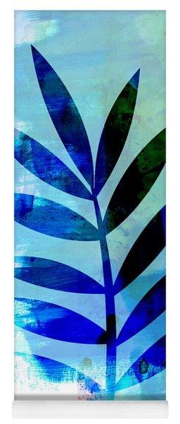 Lonely Leaf Watercolor II Yoga Mat