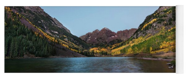 Yoga Mat featuring the photograph Maroon Bells by Joe Sparks