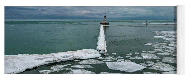 Milwaukee Breakwater Lighthouse Yoga Mat