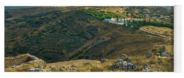 Monastery Agion Anargiron Above Argos Yoga Mat