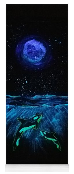 Moon Lit Orcas Yoga Mat
