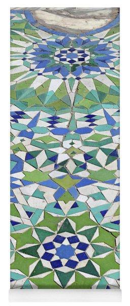 Mosaic Exterior Decorations Of The Hassan II Mosque Yoga Mat