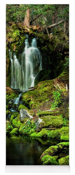 Yoga Mat featuring the photograph Mossy Falls by Joe Sparks