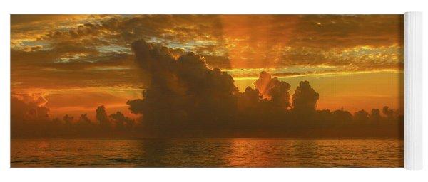 Orange Sun Rays Yoga Mat