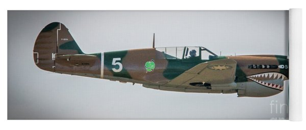 Yoga Mat featuring the photograph P-40 Warhawk by Tom Claud