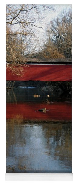 Painted Covered Bridge Yoga Mat