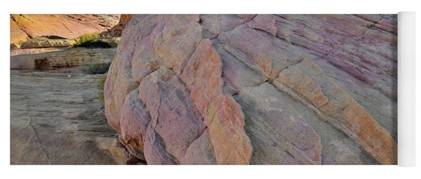 Pastel Colored Sandstone In Valley Of Fire Yoga Mat
