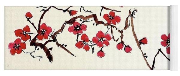 Plum Blossoms Yoga Mat