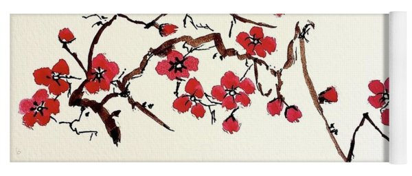 Plum Blossoms Yoga Mat