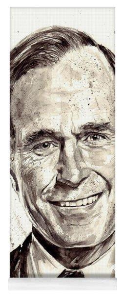 President George H. W. Bush Portrait Yoga Mat