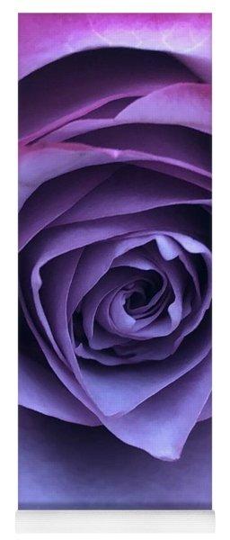 Purple Rose Yoga Mat