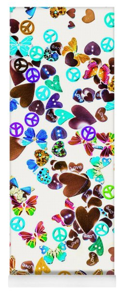 Rainbow Love Yoga Mat