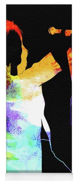 Rod Stewart Watercolor Yoga Mat