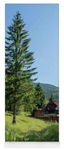Romania Carpathian Mountain Holiday Chalet - Fairytale Paysage Yoga Mat