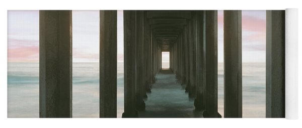 Scripps Pier Into The Pacific Ocean, La Yoga Mat