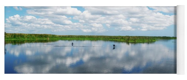 Skyscape Reflections Blue Cypress Marsh Near Vero Beach Florida C6 Yoga Mat