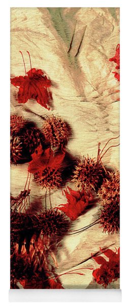 Spiked Nuts Red Yoga Mat