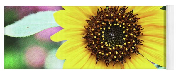 Yoga Mat featuring the photograph Sunflower by Trina Ansel