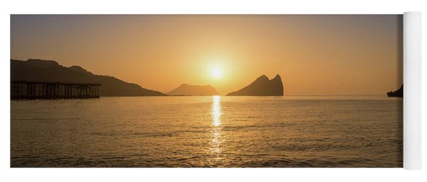 Sunrise On A Beach In Aguilas, Murcia Yoga Mat