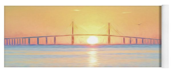 Sunshine Skyway Bridge Sunrise Yoga Mat