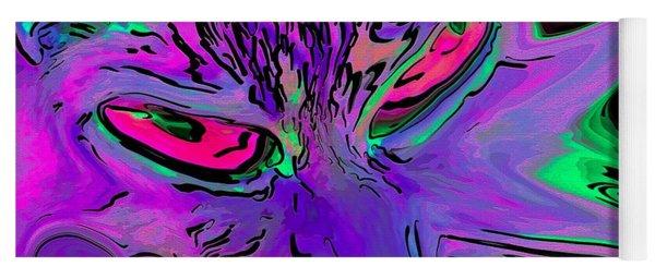 Super Duper Crazy Cat Purple Yoga Mat