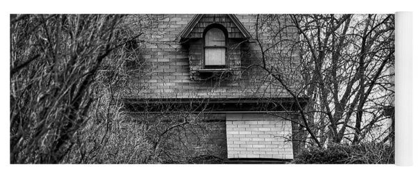 The Carriage House In Black And White Yoga Mat