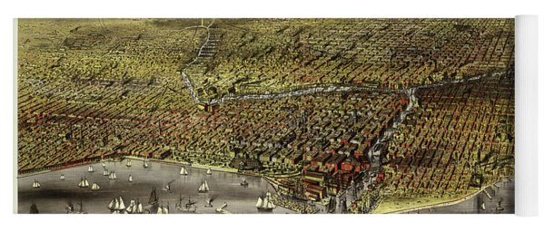 The City Of Chicago, 1868 Yoga Mat