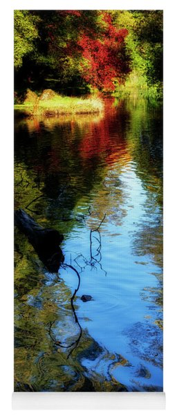 Yoga Mat featuring the photograph The Pond At Inglewood House by Jeremy Lavender Photography