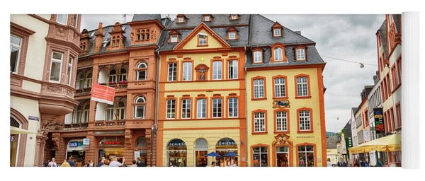 Trier, Germany,  People By Market Day Yoga Mat