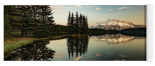 Two Jack Lake And Mount Rundle Yoga Mat