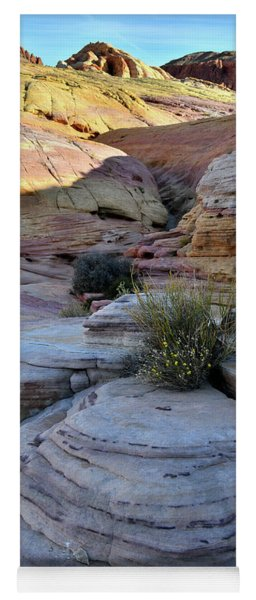 Valley Of Fire's Pastel Canyon Yoga Mat