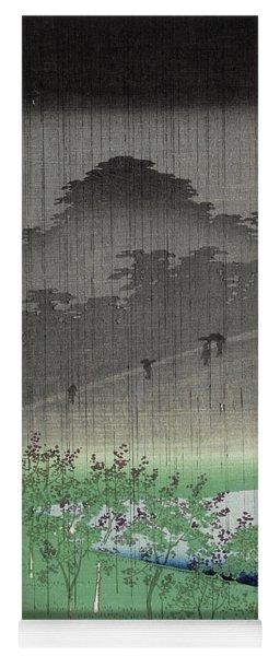 View Of The Paulownia Trees At Akasaka On A Rainy Evening Yoga Mat