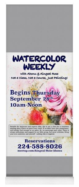 Watercolor Weekly Yoga Mat