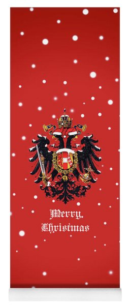 Yoga Mat featuring the photograph Christmas Habsburg-doppeladler by Helga Novelli