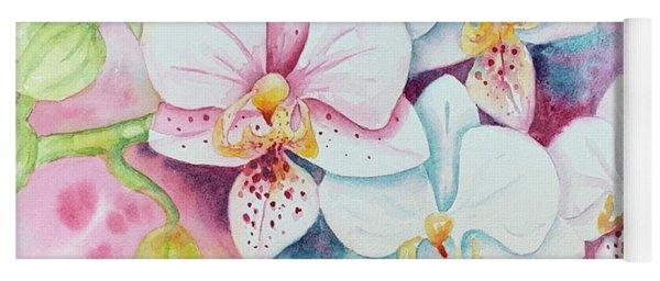 White Orchids Yoga Mat