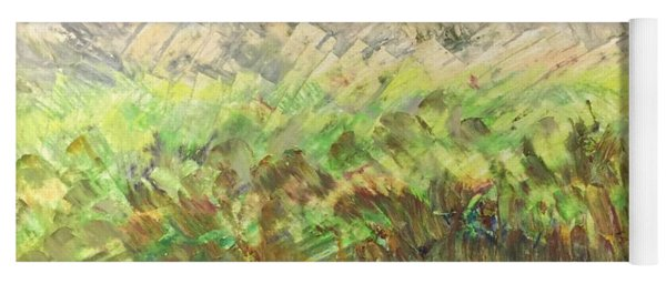 Yoga Mat featuring the painting Windy Fields by Norma Duch