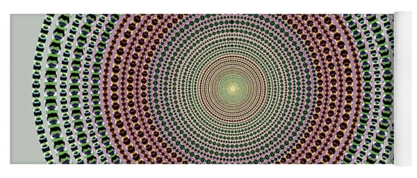 Vintage Multicolor Circle Yoga Mat