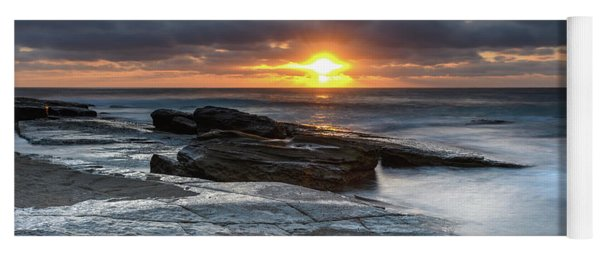A Moody Sunrise Seascape Yoga Mat