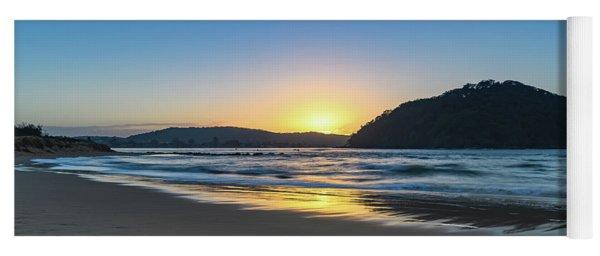 Hazy Sunrise Seascape Yoga Mat