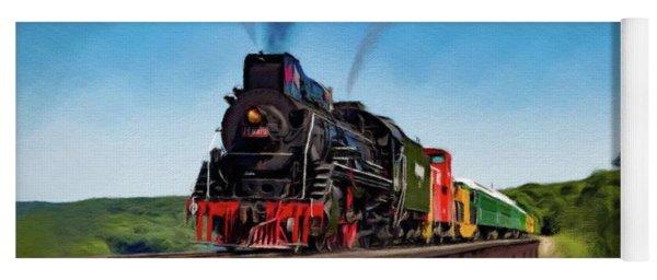 Steam Engine, Locomotive, Train Yoga Mat