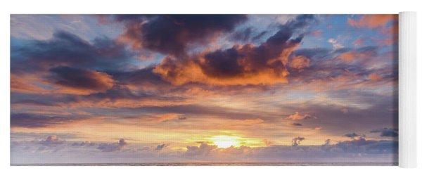 An Atmospheric Sunrise Seascape Yoga Mat