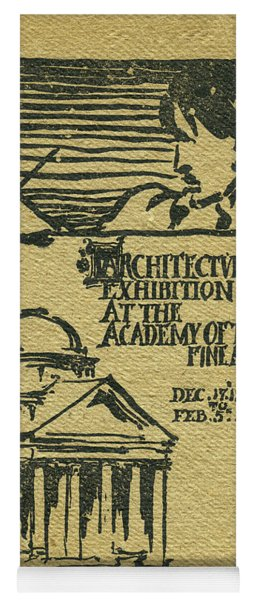 1894-95 Catalogue Of The Architectural Exhibition At The Pennsylvania Academy Of The Fine Arts Yoga Mat