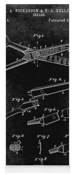 1894 Barbers Shears Patent Black Yoga Mat